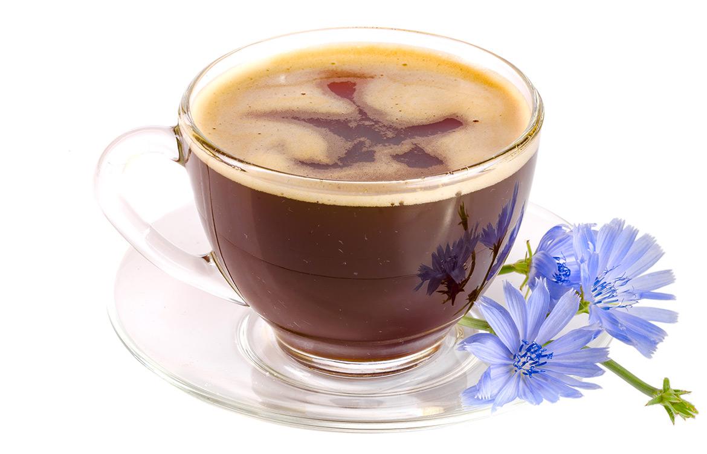 Café de raiz de achicoria tostada y molida